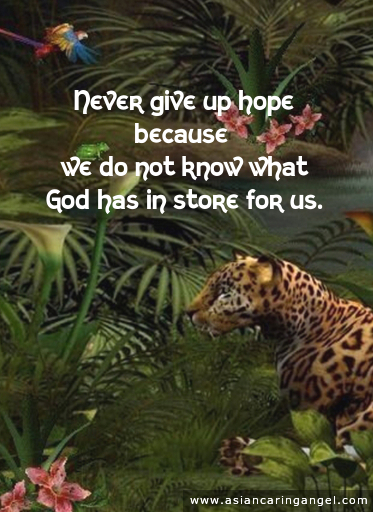 150729_7_ACA'S QUOTES AND POEMS_ENCOURAGEMENT_Never give up hope because we do not know what God has in store for us