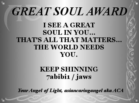 ACA'S PLATINUM AWARD CERTIFICATE_A GREAT SOUL for 7abibi1